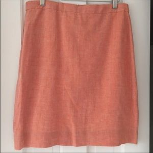 J. Crew Skirts - NWT! J. Crew Orange Linen Skirt Size 8